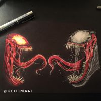 Carnage and Venom by KeitimariArt
