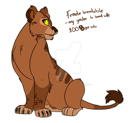 Lioness breedable -OPEN- by Cynderthedragon5768