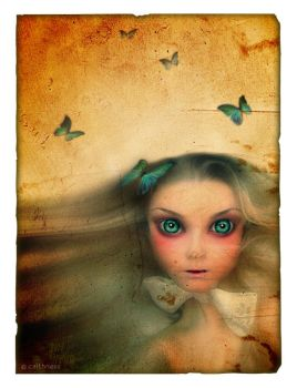 Girl with Butterflies by caithness155