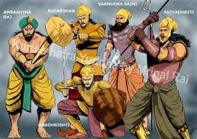 Warriors of Pandava army by mrinal-rai