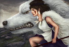 Princess Mononoke by Dzydar