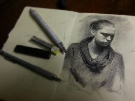 Moleskine portrait -Eva by Miles-Johnston