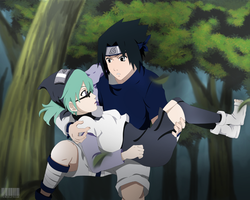 commission: Kia and sasuke by tenchufreak