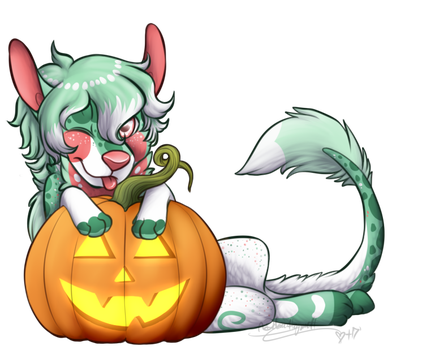 (finished ych) Pumpkin for vigilant-lowell by LindsayPrower