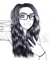 Drawing of a girl on Twitch by Yaaxian