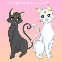 You're my Purrfect Valentine! by Sailor-Serenity