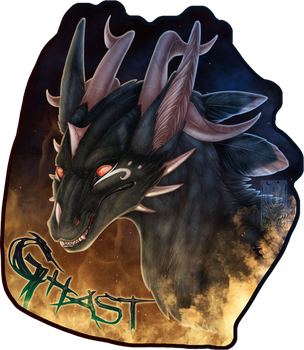 Badge Comish - Ghast by TwilightSaint