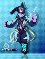Adoptable auction: blue cat-rabbit  24h -OPEN by yami11