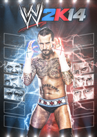 WWE 2K14 Custom Cover Art Feat CM Punk by TheElectrifyingOneHD