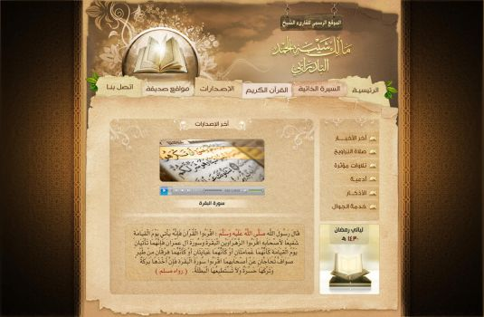 malek website by zaiddesign