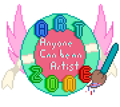 My first logo! Artzone: Anyone Can be an Artist. by PixelShirani