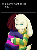 I don't want to let go. . .(Undertale Spoilers!) by Zander-The-Artist