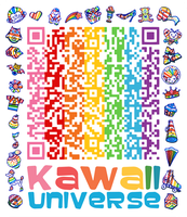 Kawaii SD Cute Shapes QR Code by KawaiiUniverseStudio
