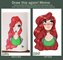 So.. I did a redraw from a year ago.. by AnurkianApple