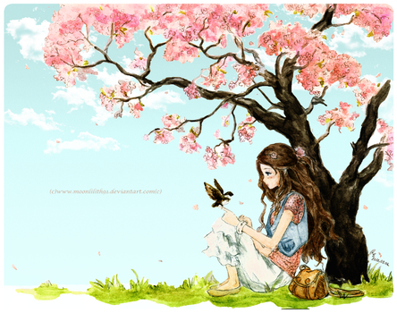 Spring girl by Moonlilith91