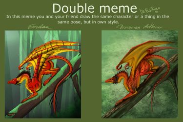 Double Meme with Erredan by DraconianArtLine