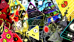 Bill Cipher all forms Wallpaper by z3llychan