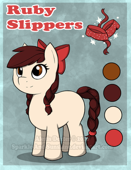 Ruby Slippers - Premium Pony Adoptable by Sparkle-And-Sunshine