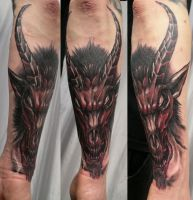 Bloody Baphomet Color TaT by 2Face-Tattoo