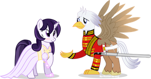 Silver Quill and Mage by Vector-Brony