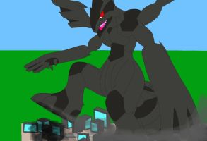Destruction of the city (Macro Zekrom) by Michael-95
