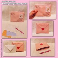 Snail Mail Pouch - envelope-shaped zipper pouch by BlueDove415