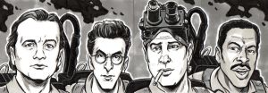 Ghostbusters Sketch Cards by timshinn73