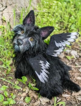 Poseable toy Commission Scottish terrier by MalinaToys