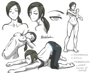 wii fit trainer study #1 by akairiot