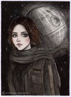 Jyn Erso [Inktober 2017] by ARiA-Illustration