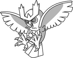Noctowl Outline