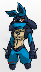 Lucario (sketch) by GoiabaMX