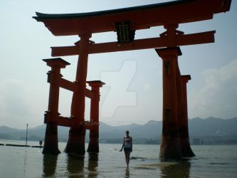 Torii In the Water by rednotes