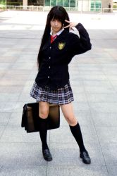 +Photoshoot: School Girl 02 by sanodesign