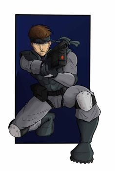 Solid Snake by Rasmussen891