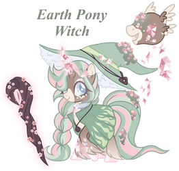 Earth Pony Witch Adoption - PayPal Only *CLOSED* by MagicDarkArt