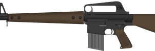 U.S. Rifle, 7.62 mm, M10A1 by Semi-II