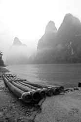 Bamboo Rafting on Li River by uncle-sam-hk