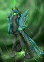 Queen Chrysalis feel my power by BloodyPink-M