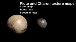 Map of Pluto and Charon by NeptuneProProduction