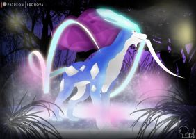 Suicune by EdoNovaIllustrator