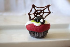 Spider Purple Fake Cupcake by YourSweetTreat