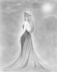 Queen of the Night - sketch by MayumiOgihara