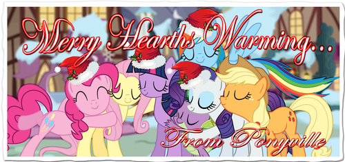 Merry Hearths Warming from Ponyville! [2014] by ShutterflyEQD