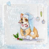 Happy Corgi year! by Keila-the-fawncat