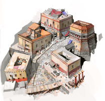 Ancient Roman Shantytown by fkcogus333
