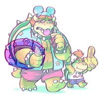 BEACH BUM BOWSER by glamdoodle