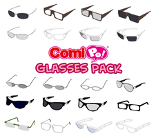 ComiPo Glasses Pack by AKIO-NOIR