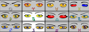 Headcanon Homestuck Eyes by JadeEbony1