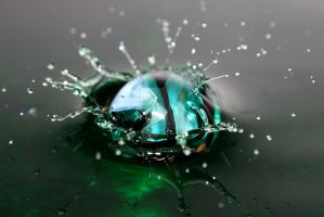 A marble falling into water 03 by mimicry94
